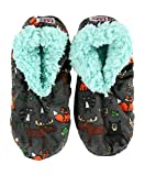 Lazy One Fuzzy Feet Slippers for Women, Born to Be Wild, Moose, Fox, Racoon, Owl, Non-Skid