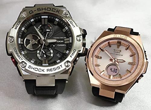 カシオCASIO 腕時計 G-SHOCK ペアウォッチ 純正ペアケース入り ジーショック&ベビージー 2本セット GST-B100-1AJF MSG-W200G-1A1JF