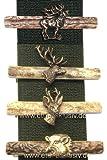 Krawattenspange aus Horn - 'Hirschhaupt'