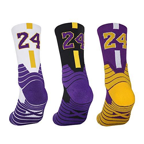3 Pairs Elite Basketball Socks