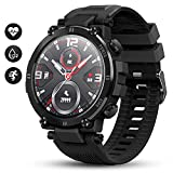 GOKOO Männer Smartwatch Voll Touchscreen Herren IP68 Wasserdicht 8 Sportmodi Fitness Activity...