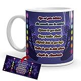 Kembilove Tazze da caffè con motivo Yoga – Tazza da caffè ispirata ai Chakra e Mandala – Tazza in ceramica resistente con disegno spirituale – Tazze colorate per tè e caffè – 350 ml