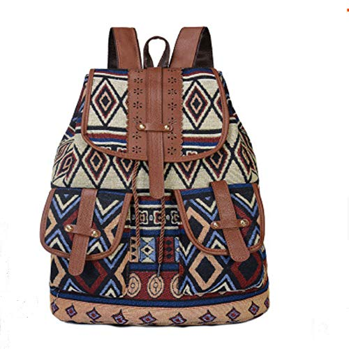 Women's Business Travel Mini Laptop Backpack One-Shoulder Messenger Bag, Women's Small Backpack Wallet, Women's Work Backpack and Handbag. Female Teacher Backpack School Bag (Large Diamond Pattern)