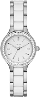 DKNY Women's 'Chambers' Quartz Stainless Steel and Ceramic Casual Watch, Color:Silver-Toned (Model: NY2494)