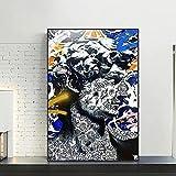 David Sculpture Graffiti Pintura moderna Poster Printmaking Imágenes HD impresas en lienzo utilizadas para la decoración del hogar de la habitación Arte de la pared | 50x75cm | Sin marco