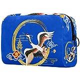 Bolsa de brochas de maquillaje personalizable, portátil, bolsa de aseo para mujer, bolsa de cosméticos, organizador de viaje, torre de grúa amarilla