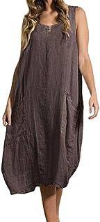 fea2285e238 Amazon.fr   lin - Robes   Femme   Vêtements