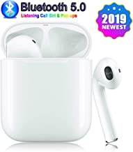 Bluetooth 5.0 Wireless Earbuds Headsets Bluetooth Headphones ?24Hrs Charging Case? 3D Stereo IPX5 Waterproof Pop-ups Auto Pairing Fast Charging for Earphone Samsung Apple Airpods Sport Earbuds