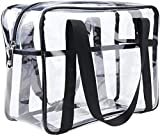 ONEGenug Clear Cosmetics Bag Transparent Tote Bag Thick PVC Zippered Toiletry Carry Pouch Waterproof Makeup...