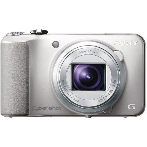 Sony DSC-HX10VS Cyber-shot Digitalkamera (18,2 Megapixel, 16-fach opt. Zoom, 7,5 cm (3 Zoll) Display, Schwenkpanorama, Full-HD) silber