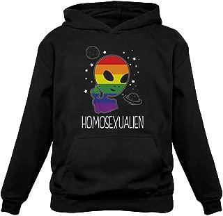 Tstars - Funny Space Rainbow Alien Pride Gay Hoodie