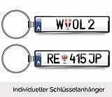 Individueller Schlüsselanhänger KFZ Auto MiniKennzeichen Österreich Autoschilder für Audi BMW Mercedes VW OPEL SKODA MAZDA Ford Porsche Volvo Seat Nissan Renault