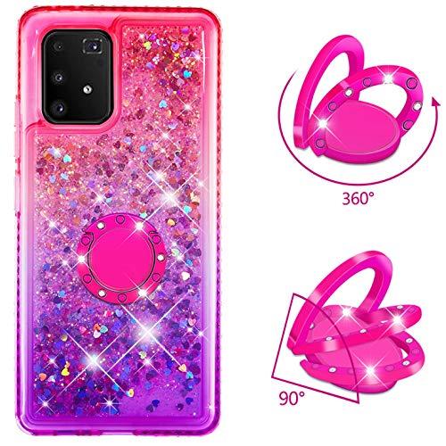 Dclbo - Carcasa para Samsung Galaxy A91 / S10 Lite, con soporte de anillo, rosa, lila.