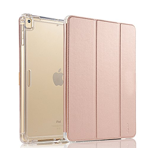 Valkit for iPad Mini 5th Generation 2019 Case, iPad Mini 4 Case,Shockproof Protective Smart Folio Stand Protective Heavy Duty Rugged Impact Resistant Armor Cover[with Auto Sleep/Wake], Rose Gold