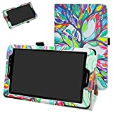 AT&T Trek 2 HD Case (Model 6461A),Mama Mouth PU Leather Folio 2-Folding Stand Cover with Stylus Holder for 8' ZTE Trek 2 HD K88 /ZPad 8 K81 Android Tablet,Love Tree