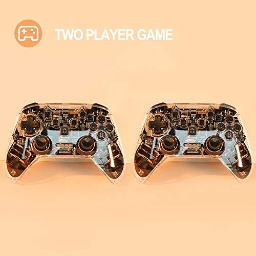 Controller Wireless for Switch e PC, Ergonomia Joystick ad Alta Precisione Controller da Gioc Dual Shock Vibrazione Joystick per Gamepad, 6-Axis Gyro, Tecnologia Bluetooth - Trasparente