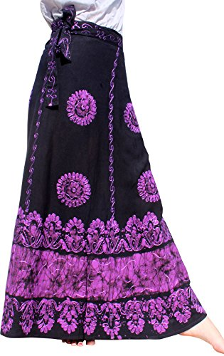Raan Pah Muang RaanPahMuang Girls Gypsy 2 Layer Mix Floral Printed Dancing Skirt
