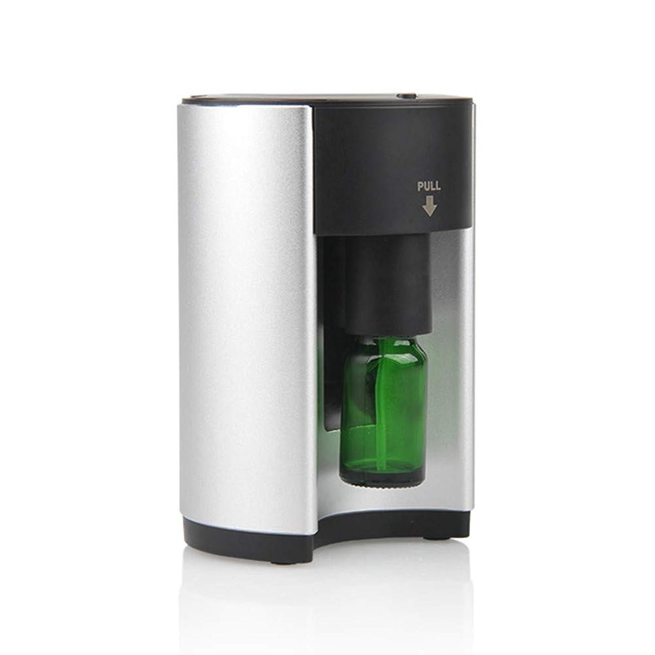 施設習熟度大学ネブライザー式アロマディフューザー 3個専用精油瓶付き ネブライザー式 アロマ芳香器 タイマー機能付き ヨガ室 ホテル 店舗 人気 タイマー機能 (シルバー)