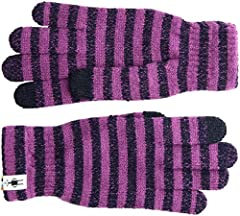 Keep phalanges from freezing over with the playful design of this classic Smartwool® glove. Lightweight knit allows for easy movement. Ribbed cuff offers a bulk-free fit. Knit-in touch-screen compatible thumb and index finger. 47% Merino wool, 46% ac...
