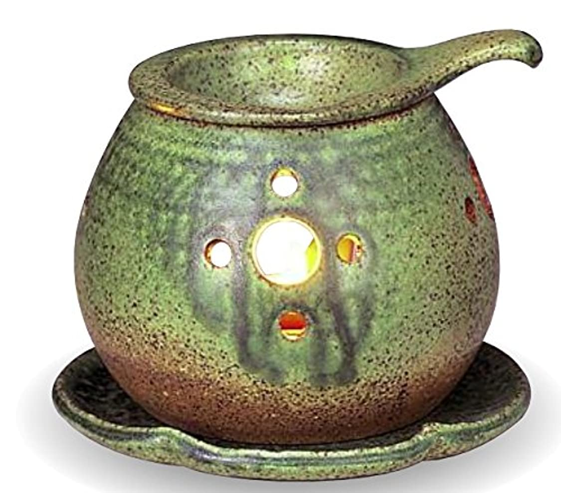 マッシュつかの間思慮のない常滑焼 茶香炉(アロマポット)径11×高さ9.5cm