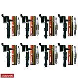 Set of 8 OEM Iridium Spark Plugs + 8 Delphi Ignition Coils GN10182