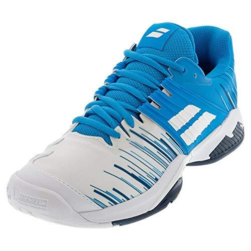 Babolat Herren Propulse Fury All Court M Tennisschuhe, White/Blue Aster, 42 EU