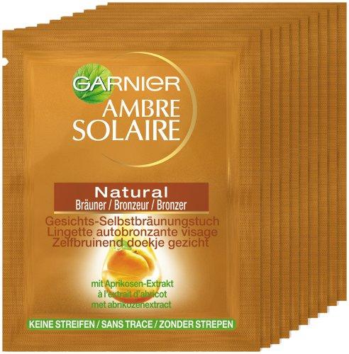 Garnier Ambre Solaire Natural Bräuner Tücher Gesicht, 10er Pack (10 Tücher)
