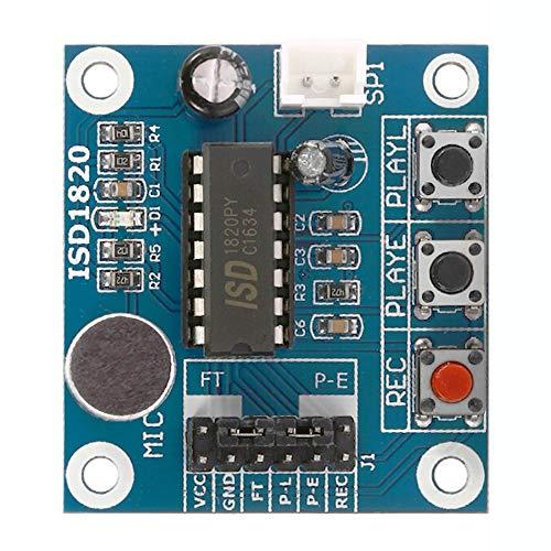 KEPUSHIYE DIY Zubehör ISD1820 Audio Sound Recording-Modul mit Mikrofon und Lautsprecher 0.5W 8R FÜR Mikrocontroller
