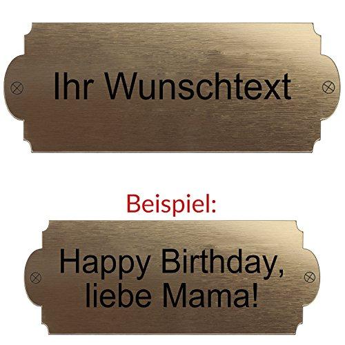 Geschenke 24 Gravierte Geburtstagsbank mit Lehne – personalisierte Gartenbank für Männer und Frauen – ein schönes Geschenk zum Geburtstag (Natur) - 2