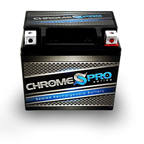 Rechargeable YTX5L-BS High Performance Replacement Power Sports Battery - Chrome Pro Battery