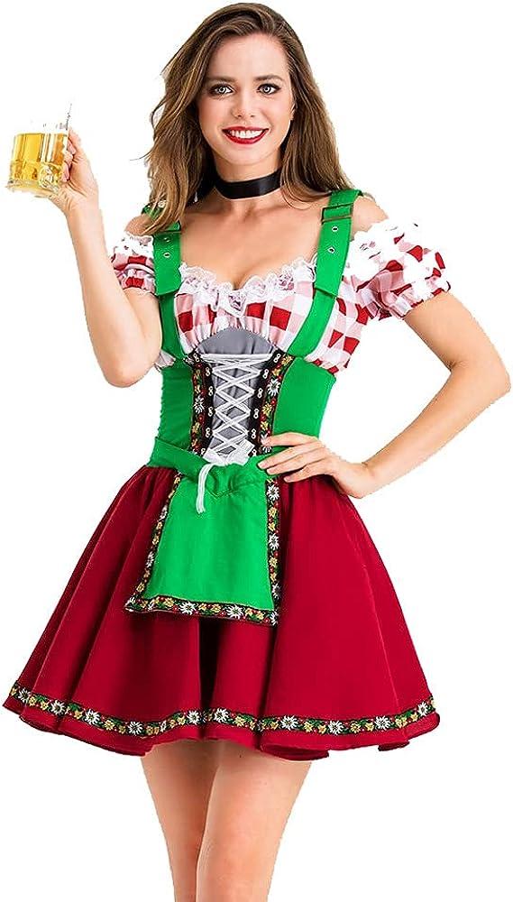 Women's Beer Babe Oktoberfest Costumes Dedication Pa Sale Halloween Cosplay Sexy