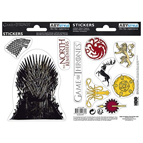 ABYstyle - GAME OF THRONES - Stickers - 16x11cm - Stark / Sigils