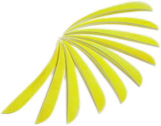 PG1ARCHERY 5 Inch Turkey Feathers Fletching Left Wing Fletched for DIY Archery Target Arrow Crossbow Bolts 30pcs