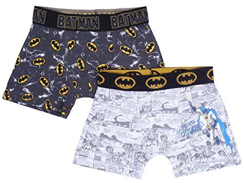 Batman -:- DC COMICS 2 x Boxers Blancos y Negros 5-6 Años 116 cm