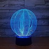 Tianyifengg 3D-Nachtlichter -7 Farben - Fernbedienung - Neue Lichter Abstrakte Bunte Lava-Lampen für die Hochzeitsinnovations-Büro-Party-Dekoration