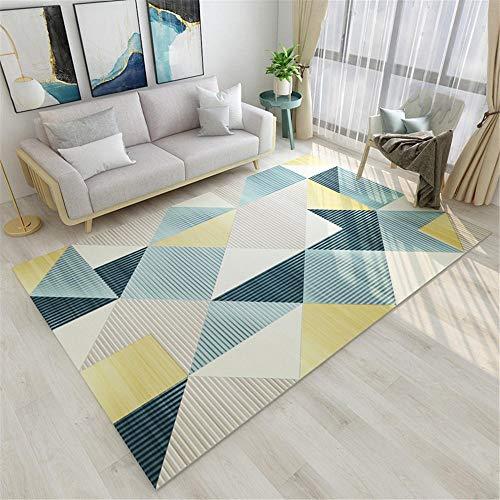 Kunsen alfombras alfombras alfombras niños Alfombra de la habitación de los niños Azul Beige Caminando cómodo Antideslizante Alfombra 180x280cm 5ft 10.9' X9ft 2.2'