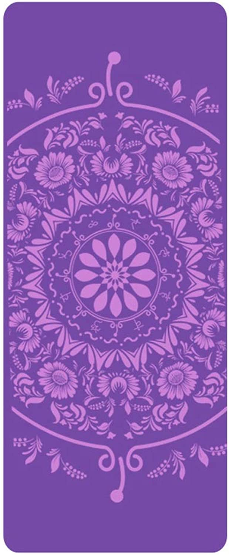 Yogamatte rutschfeste Fitness tanzmatte weibliche geschmacklose anfnger Yu Kaffee pad Hause bodenmatte springseil matten JIA mat LJJOZ (Farbe   lila)