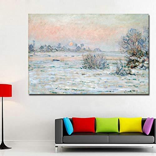 wanmeidp Pintura Impresa el Pintor más Famoso Pintura al óleo Copia soplado 40x60cm.