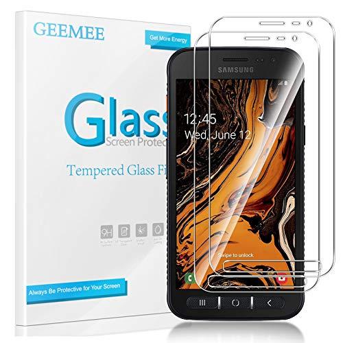 GEEMEE für Samsung Galaxy Xcover 4S/ 4 Panzerglas Schutzfolie Displayschutzfolie, 9H Filmhärte Gehärtetem Schutzglas Hohe Empfindlichkeit Panzerglas Displayschutzfolie (Transparent)-2 Pack