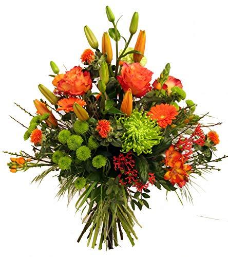 Flora Trans Sommerstrauss zum Geburtstag verschicken mit Rosen und Lilien