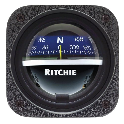 Boating Ritchie V-57.2 Explorer Ritchie Navigation V-57.2 Explorer Dash-Mount Compass Black with Black Dial Northern Wholesale Supply Inc