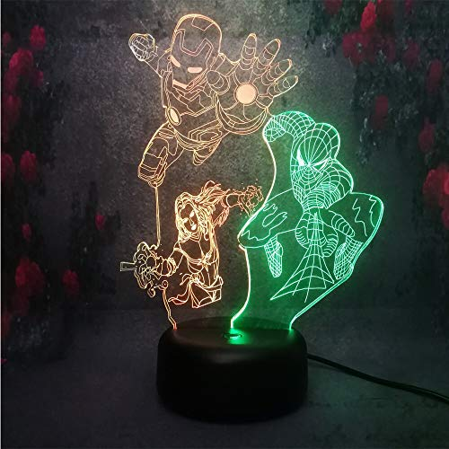 Nur 1 Stil Charakter Union Creative Decor Home Nachtlampe 3D LED Wonder Gift Toy Tischleuchte