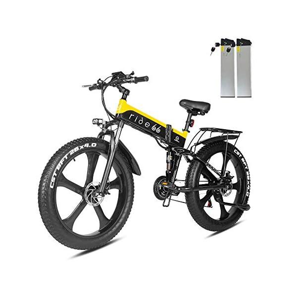 51GtQgGUT+L. SS600  - ride66 e Bike Mountainbike elektrofahrrad klapprad 26 Zoll Doppelbatterie 1000W ebike für Damen Herren