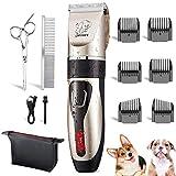Yabife Máquina de cortar el pelo para perros, profesional para mascotas, cortapelos eléctrico, recargable por USB, para perros y gatos