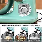 Ankishi 3 en 1 Robot de Cuisine,1100 W Robot Multifonction Pétrisseur électrique 10 vitesses avec Bol de 5 L, Accessoires Mélangeurs, Hachoir Viandes Électrique et Mixeur, Crochet Pétrisseur, Fouet