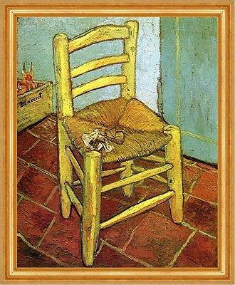 Kunstdruck La silla Van Gogh en Arles con silbato tabaco Vincent Van Gogh A3 023 enmarcada