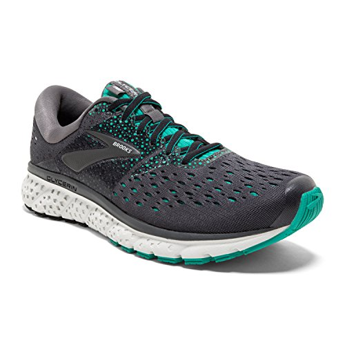 Brooks Womens Glycerin 16 Running Shoe - Ebony/Green/Black - B - 8.5