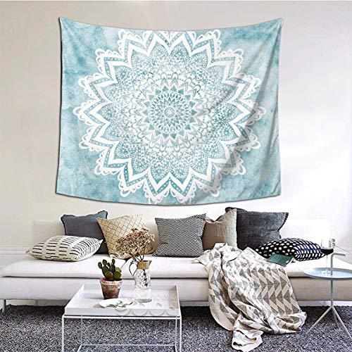 MOONSOON Mandala Savanah Light Blue Boutique Tapestry Wall Hanging...
