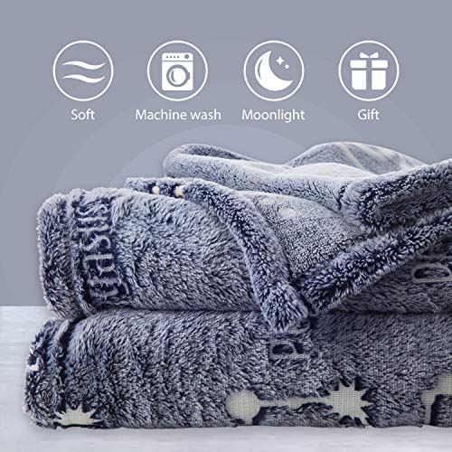 Product Image 3: Kanguru Glow in The Dark Constellation Blanket, Christmas Thanksgiving Blanket Gifts for Birthday Kids Women Girls Boy Best Friend