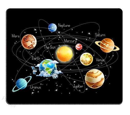 Solar System Planets Stars and Milky Way Galaxy Space Gaming Mouse Pad with The Sun Mercury Venus Earth Mars Jupiter Saturn Uranus Neptune Cosmos Nebula